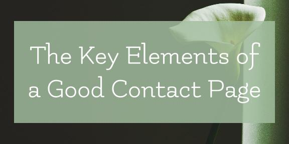 The Key Elements of a Good Contact Page
